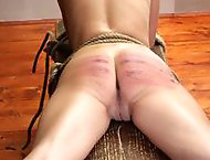 Servant girls stripped naked, tied down & whipped