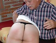 Lazy girl spanked & whipped by her kinky tutor